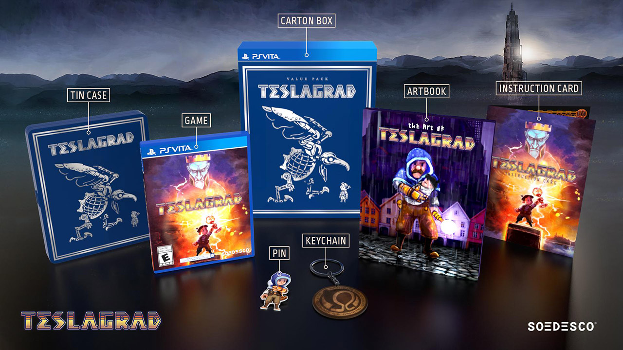 Teslagrad Physical Collector's Edition Revealed For PS Vita | Handheld Players