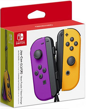 Nintendo Switch Joy-Con Controllers (Neon Purple / Neon Orange)