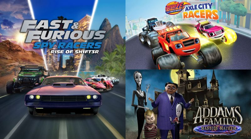 First Look at Fast & Furious Spy Racers, Blaze & The Monster Machines and The Addams Family